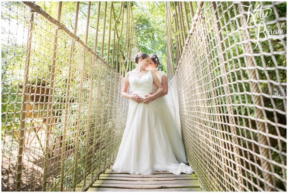 civil partnership conversion, alnwick treehouse wedding, alnwick garden wedding, katie byram photography, two brides, lgbt wedding, northumberland wedding venue, quirky wedding venue, treehouse wedding, ellingham hall wedding, doxford barns wedding