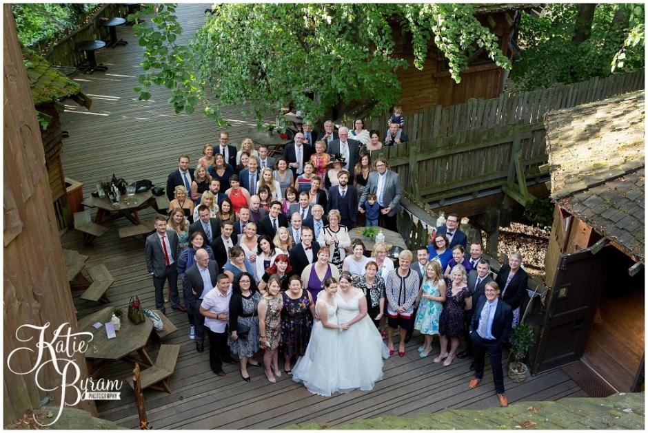 alnwick treehouse wedding, alnwick garden wedding, katie byram photography, two brides, lgbt wedding, northumberland wedding venue, quirky wedding venue, treehouse wedding, ellingham hall wedding, doxford barns wedding