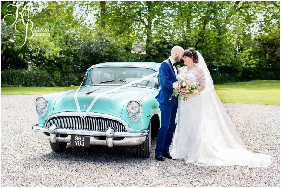 ellingham hall wedding, valley retro car, wildflower florist, northumberland wedding, northumberland wedding venue, katie byram photography, yap bridal,