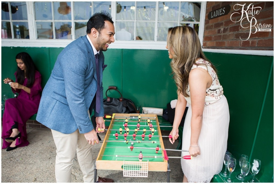 table football wedding, summerhill bowling club, mining institute wedding, katie byram photography, diy wedding, newcastle city centre wedding,