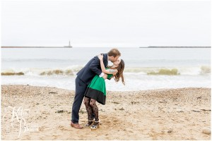 tattooed bride, quirky engagement shoot, alternative wedding photography, katie byram photography, green wedding dress, sunderland wedding, sunderland wedding venue, roker beach, beach wedding north east, sunderland civic centre