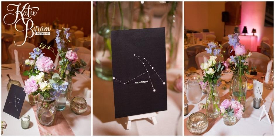 floral quarter wedding, constellation table plan, centre for life wedding, planetarium wedding, newcastle city centre wedding, newcastle wedding venue, newcastle upon tyne, katie byram photography,