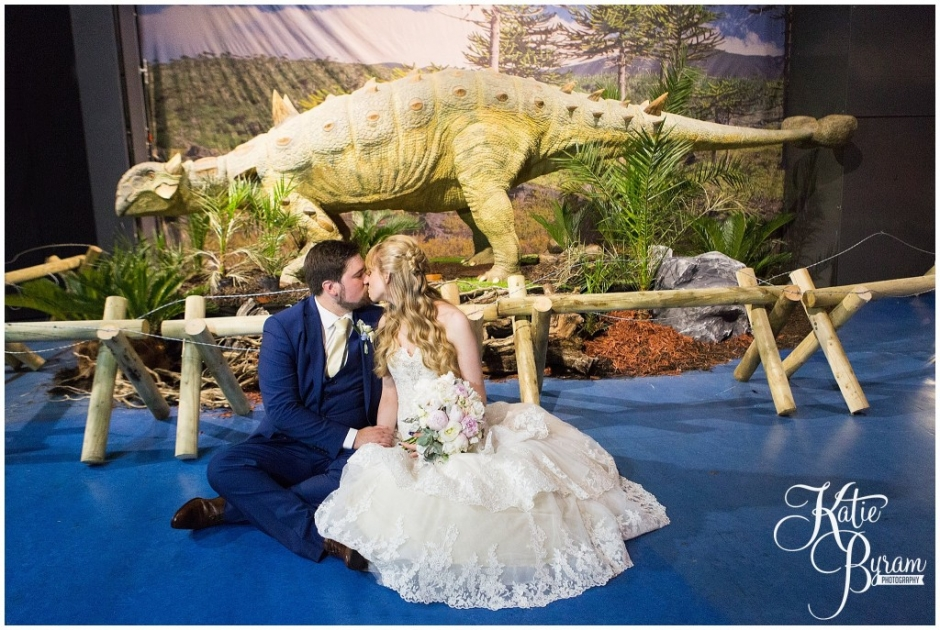 dinosaur wedding photos, centre for life wedding, planetarium wedding, newcastle city centre wedding, newcastle wedding venue, newcastle upon tyne, katie byram photography,