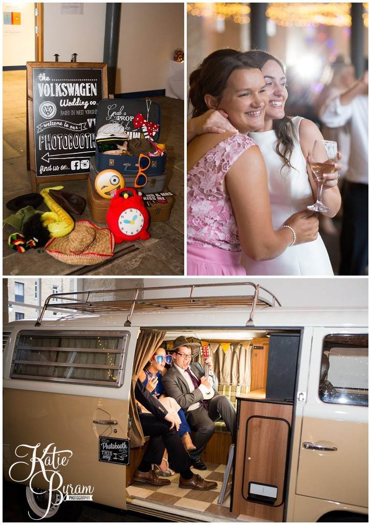 vw campervan booth, vw campervan Photo Booth, the arches dean clough, yorkshire wedding venue, halifax wedding venue, saltaire wedding, saltaire church, yorkshire wedding photographer