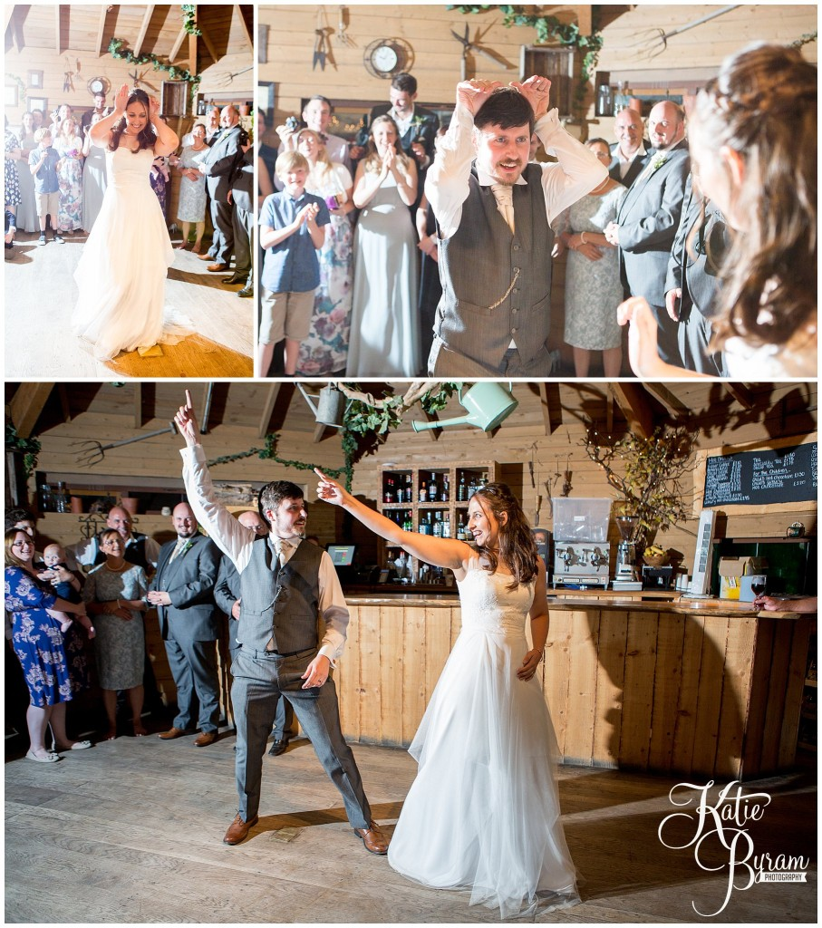 fun first dance, alnwick treehouse wedding, woodland wedding, katie byram photography, cosmic flower shop, foliage bouquet, the plough alnwick, alnwick garden wedding, treehouse wedding photos, treehouse wedding, northumberland wedding venue, quirky wedding venue, after dark wedding, game of thrones wedding, game of thrones theme,