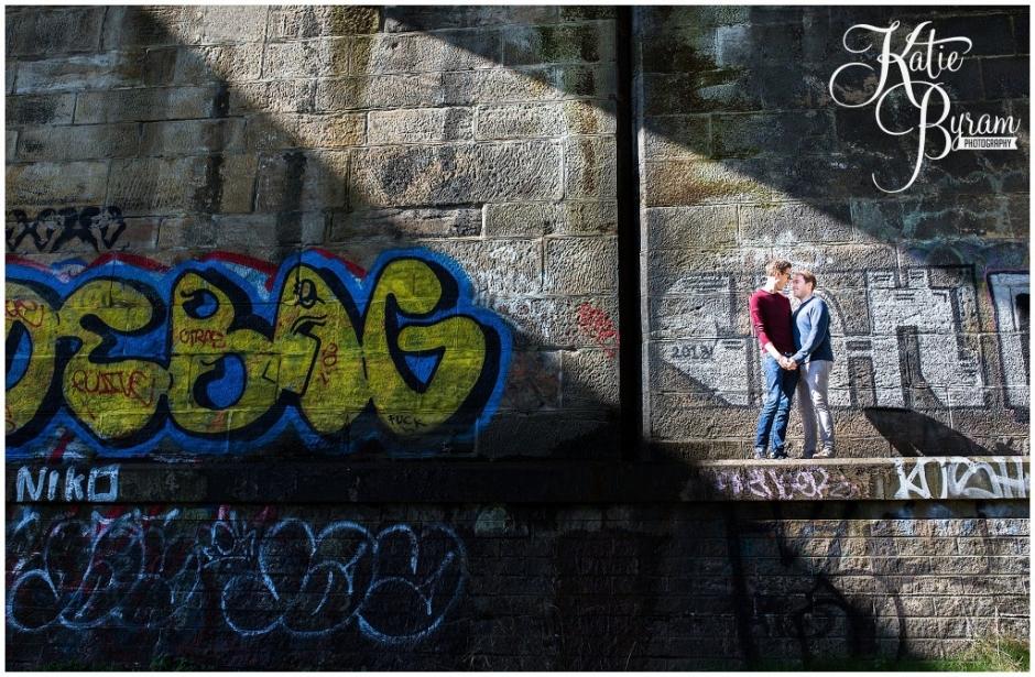 ouseburn pre-wedding shoot, ouseburn engagement, the cluny, the ship inn newcastle, colourful pre-wedding shoot, urban engagement shoot, katie byram photography, newcastle engagement photographer, newcastle wedding photographer, same-sex engagement photographs,