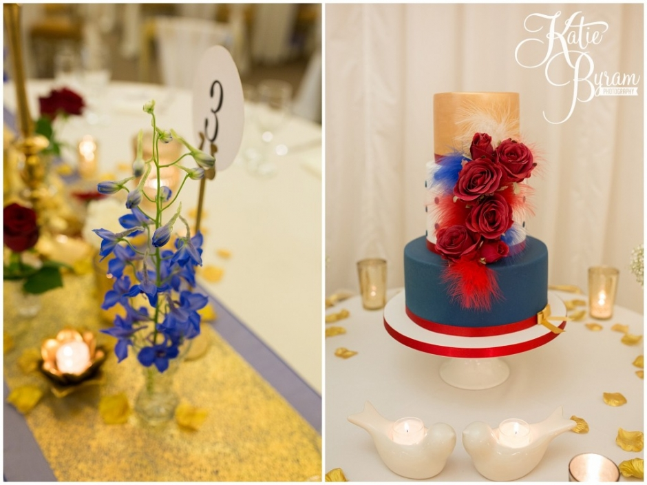 john francis cakes, crow hill marquee, west yorkshire marquee, red white and blue wedding theme, royal wedding theme, gold wedding, crow hill, crow hill weddings, marsden wedding venue, standedge tunnel wedding, huddersfield wedding photographer, marsden wedding photographer, manchester wedding venue, katie byram photography, lily blossom florist, small wedding venue,