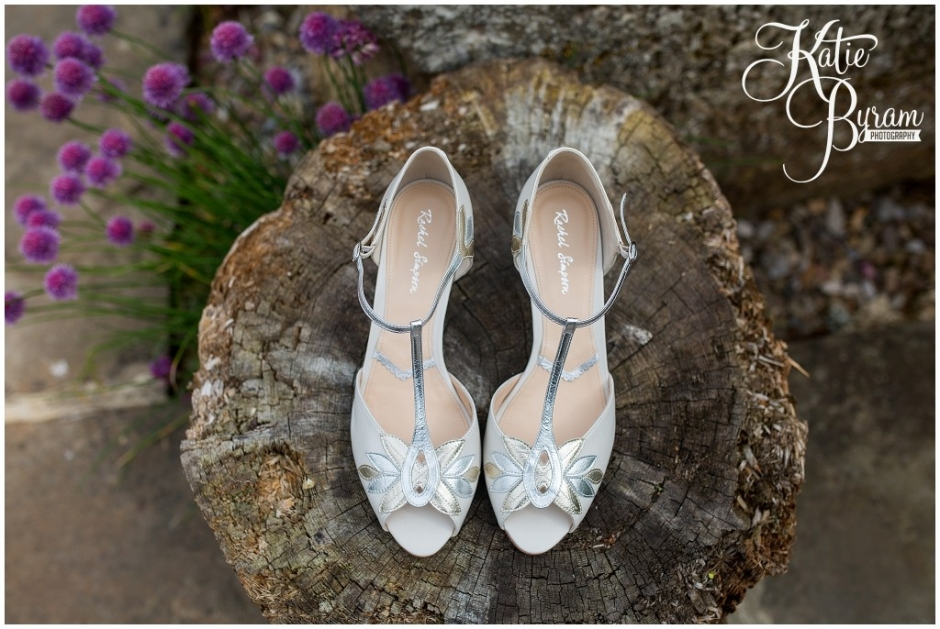 rachael simpson wedding shoes, brinkburn priory wedding, brinkburn weddings, northumberland wedding venue, katie byram photography, chris and joanna wedding