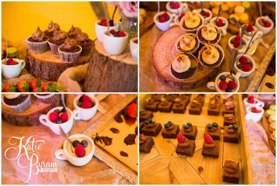 wedding dessert table, brinkburn priory wedding, brinkburn weddings, northumberland wedding venue, katie byram photography, chris and joanna wedding
