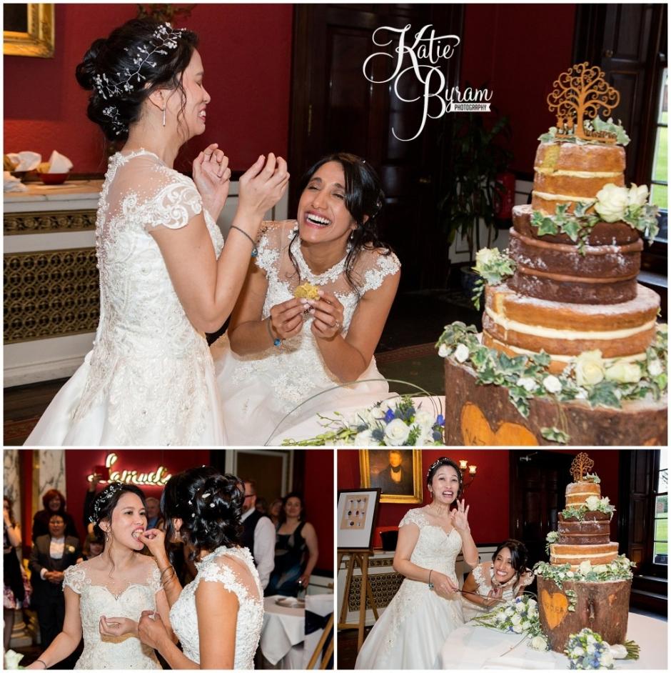 huddersfield wedding photographer, swinton park wedding, katie byram photography, two bride wedding, jea and naz,